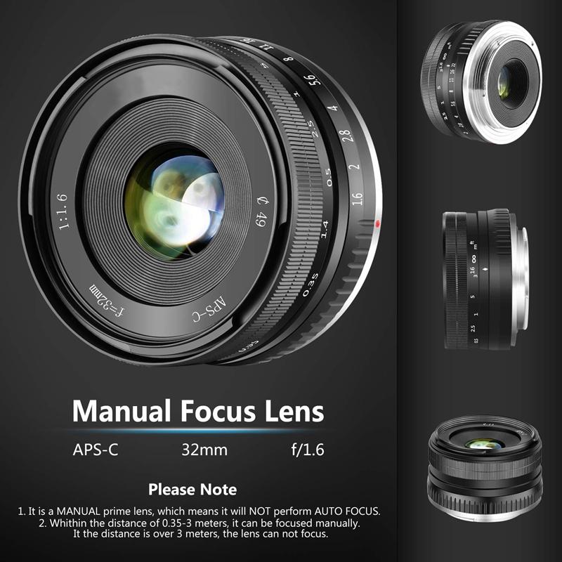 32Mm-F1-6-Objectif-Fixe-a-Grande-Ouverture-Manuelle-APS-C-pour-Sony-E-Mount-I2Y8