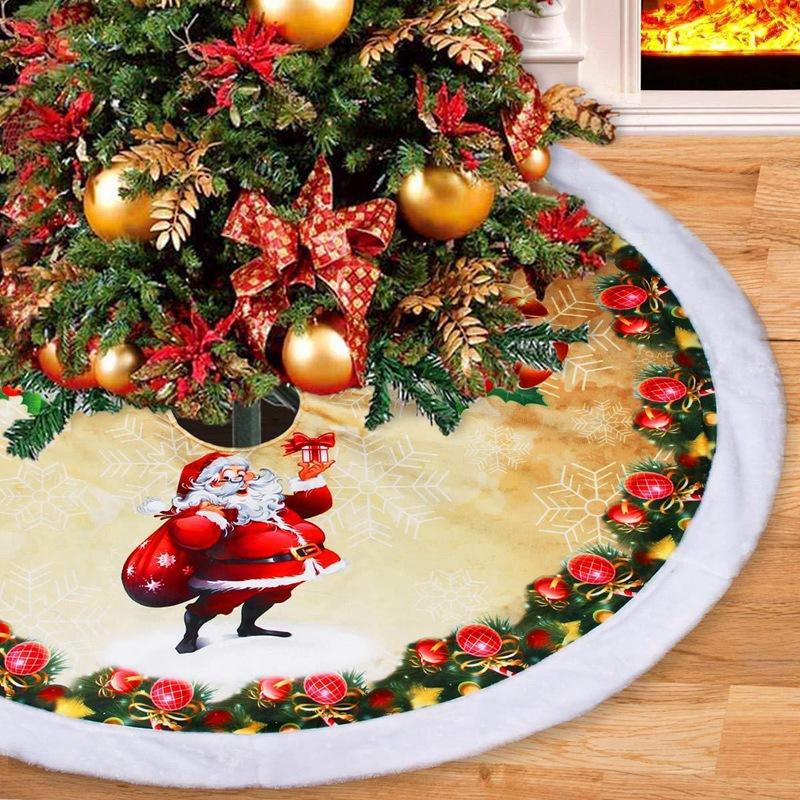 1X-1-StueCke-Rentier-Weihnachtsbaum-RoeCke-Pelz-Carpet-Weihnachten-Dekoration-6I9 Indexbild 5