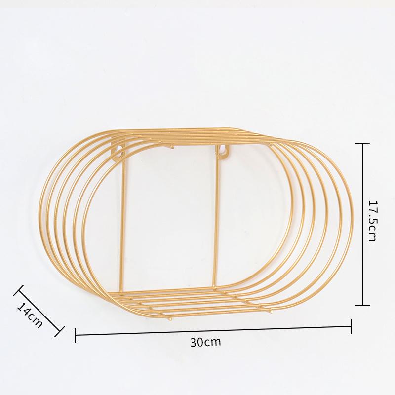 Nordisch-Einfache-Schmiedeeisen-Wand-Regal-Wohnkultur-Bad-Wand-Waschen-N6S2 Indexbild 9
