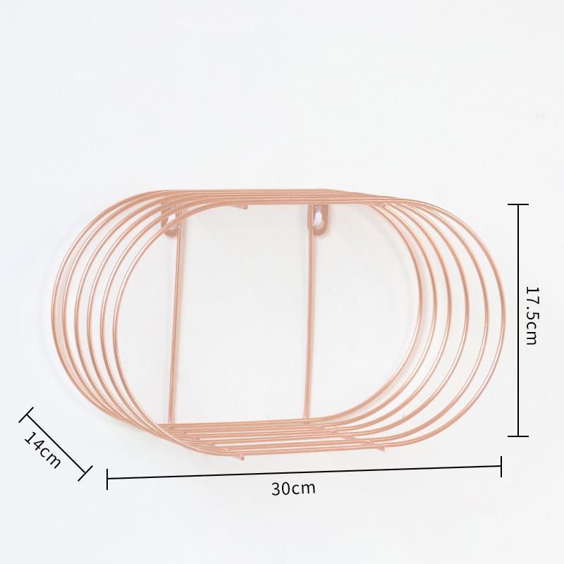 Nordisch-Einfache-Schmiedeeisen-Wand-Regal-Wohnkultur-Bad-Wand-Waschen-N6S2 Indexbild 15