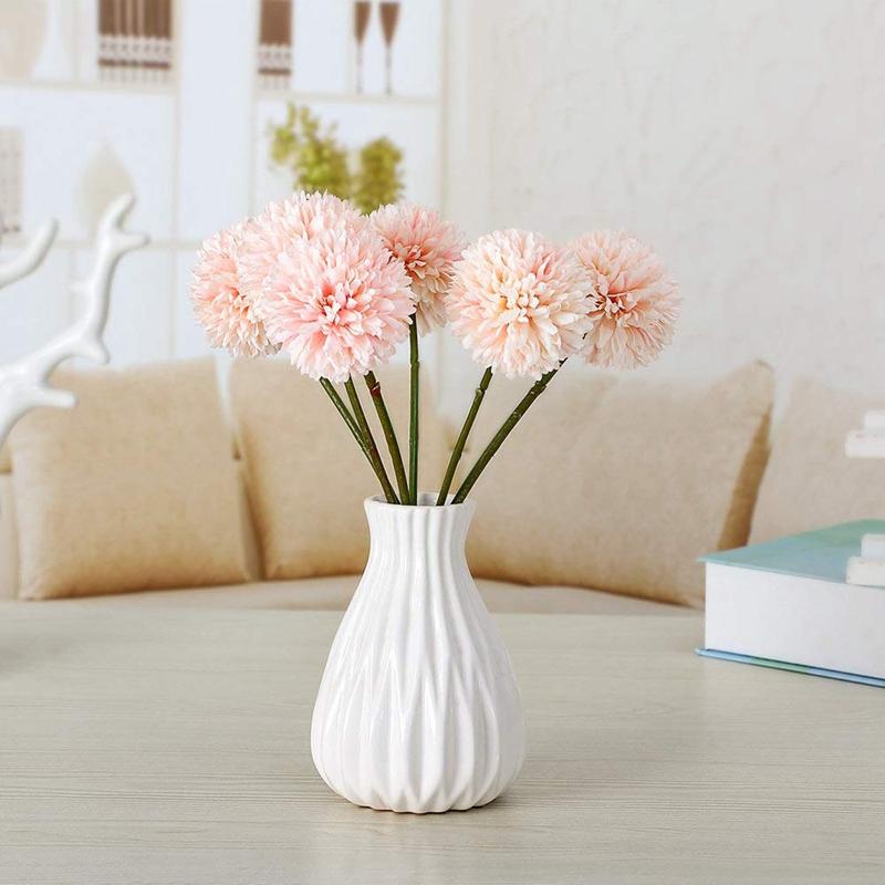 6Pcs-Artificial-Flowers-Fake-Flowers-Silk-Plastic-Artificial-Hydrangea-Bri-D5J9 thumbnail 3