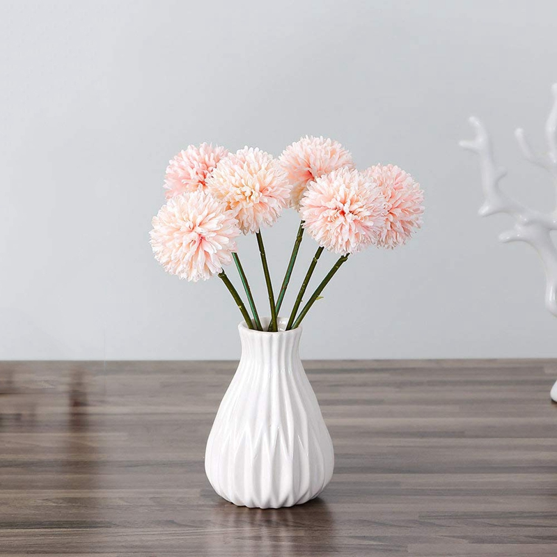 6Pcs-Artificial-Flowers-Fake-Flowers-Silk-Plastic-Artificial-Hydrangea-Bri-D5J9 thumbnail 5