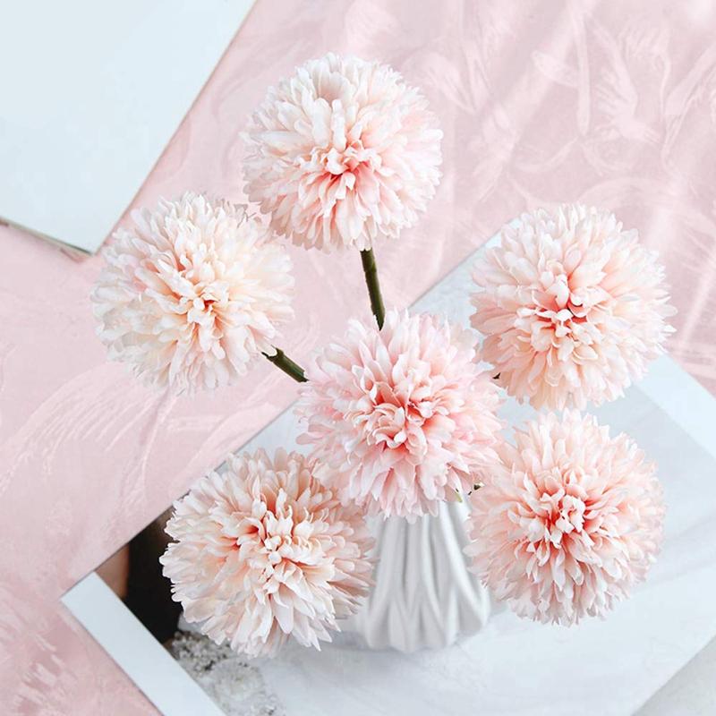 thumbnail 6 - 6Pcs-Artificial-Flowers-Fake-Flowers-Silk-Plastic-Artificial-Hydrangea-Bri-D5J9