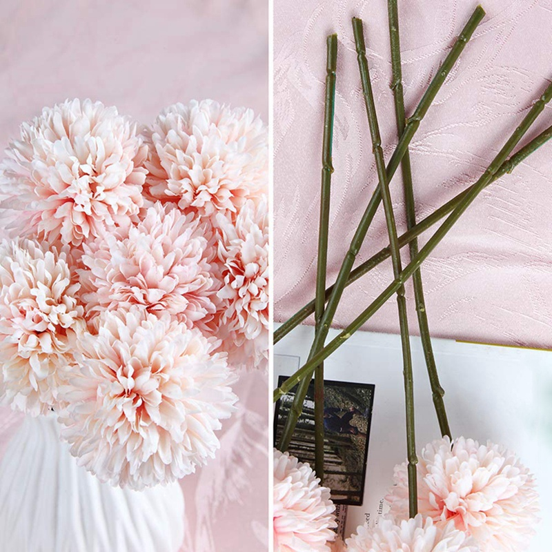 6Pcs-Artificial-Flowers-Fake-Flowers-Silk-Plastic-Artificial-Hydrangea-Bri-D5J9 thumbnail 7