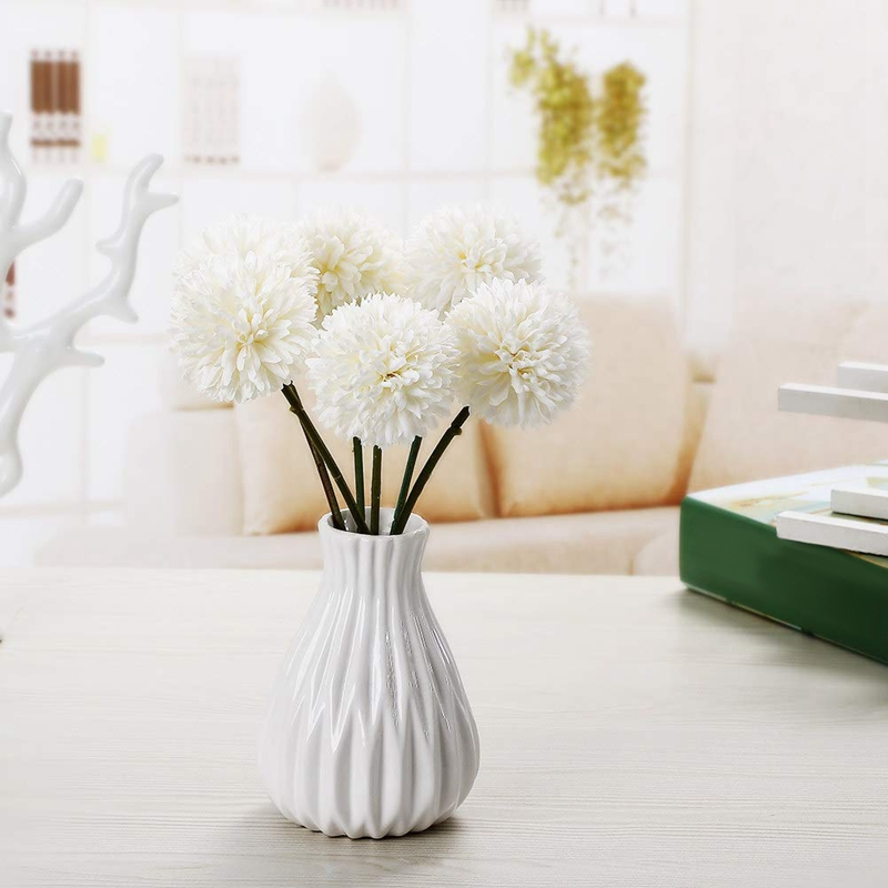 thumbnail 9 - 6Pcs-Artificial-Flowers-Fake-Flowers-Silk-Plastic-Artificial-Hydrangea-Bri-D5J9