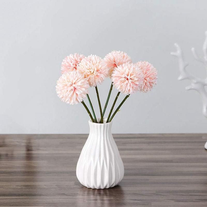 thumbnail 11 - 6Pcs-Artificial-Flowers-Fake-Flowers-Silk-Plastic-Artificial-Hydrangea-Bri-D5J9