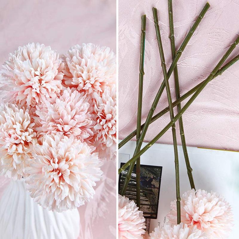 6Pcs-Artificial-Flowers-Fake-Flowers-Silk-Plastic-Artificial-Hydrangea-Bri-D5J9 thumbnail 13
