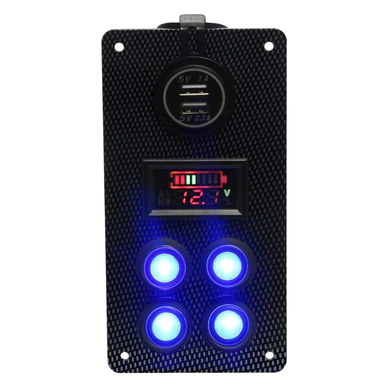 12-24-V-Bateau-On-Off-Blue-LED-Interrupteur-a-Bascule-Panneau-de-Repose-de-C9V7 miniature 2
