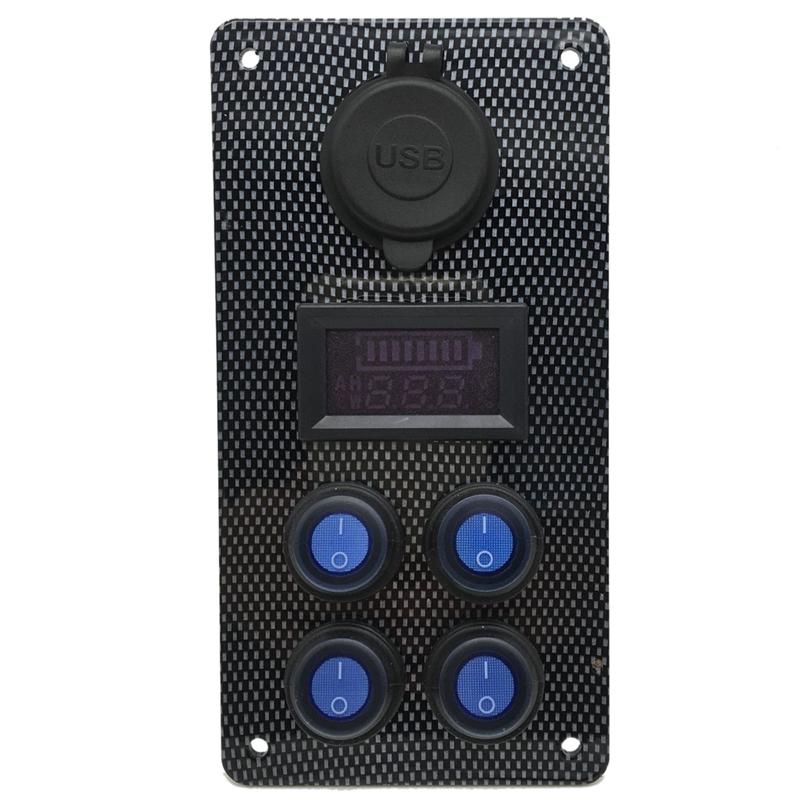 12-24-V-Bateau-On-Off-Blue-LED-Interrupteur-a-Bascule-Panneau-de-Repose-de-C9V7 miniature 4