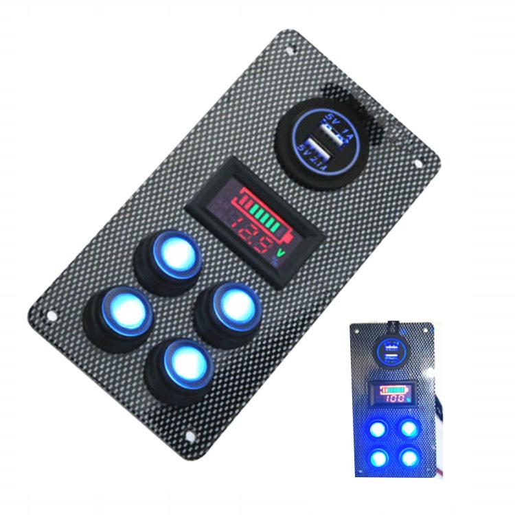 12-24-V-Bateau-On-Off-Blue-LED-Interrupteur-a-Bascule-Panneau-de-Repose-de-C9V7 miniature 6