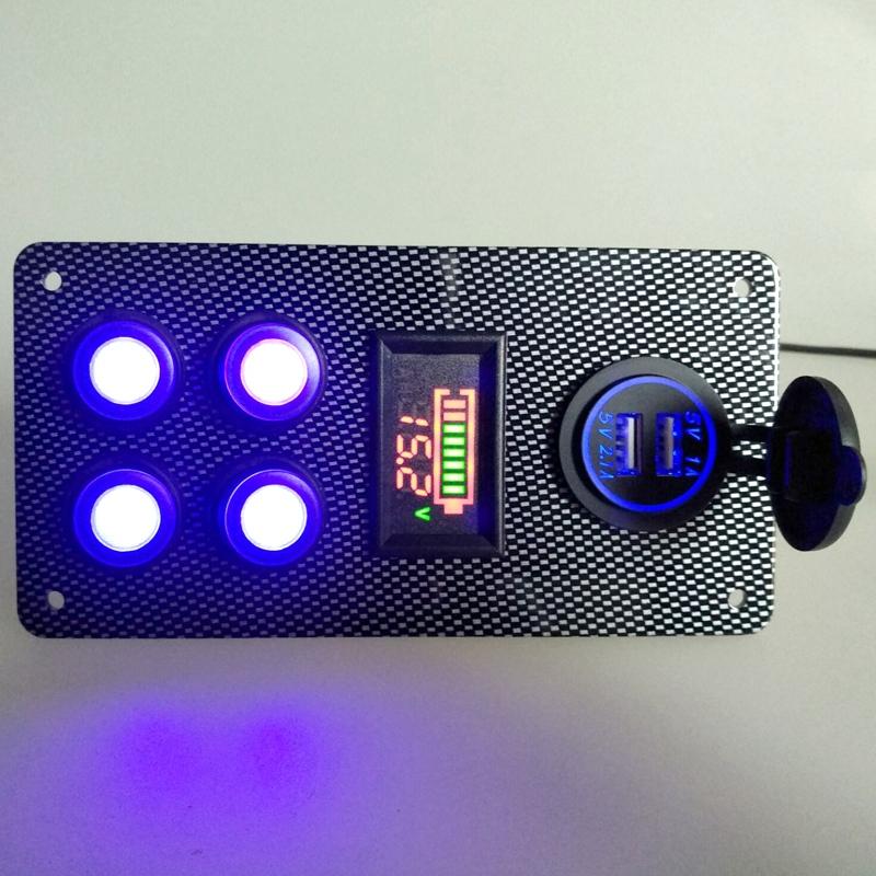 12-24-V-Bateau-On-Off-Blue-LED-Interrupteur-a-Bascule-Panneau-de-Repose-de-C9V7 miniature 8