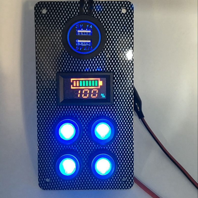 12-24-V-Bateau-On-Off-Blue-LED-Interrupteur-a-Bascule-Panneau-de-Repose-de-C9V7 miniature 9