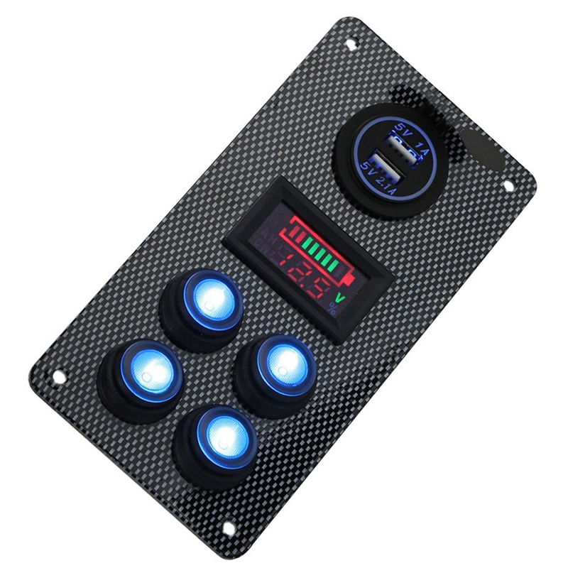 12-24-V-Bateau-On-Off-Blue-LED-Interrupteur-a-Bascule-Panneau-de-Repose-de-C9V7