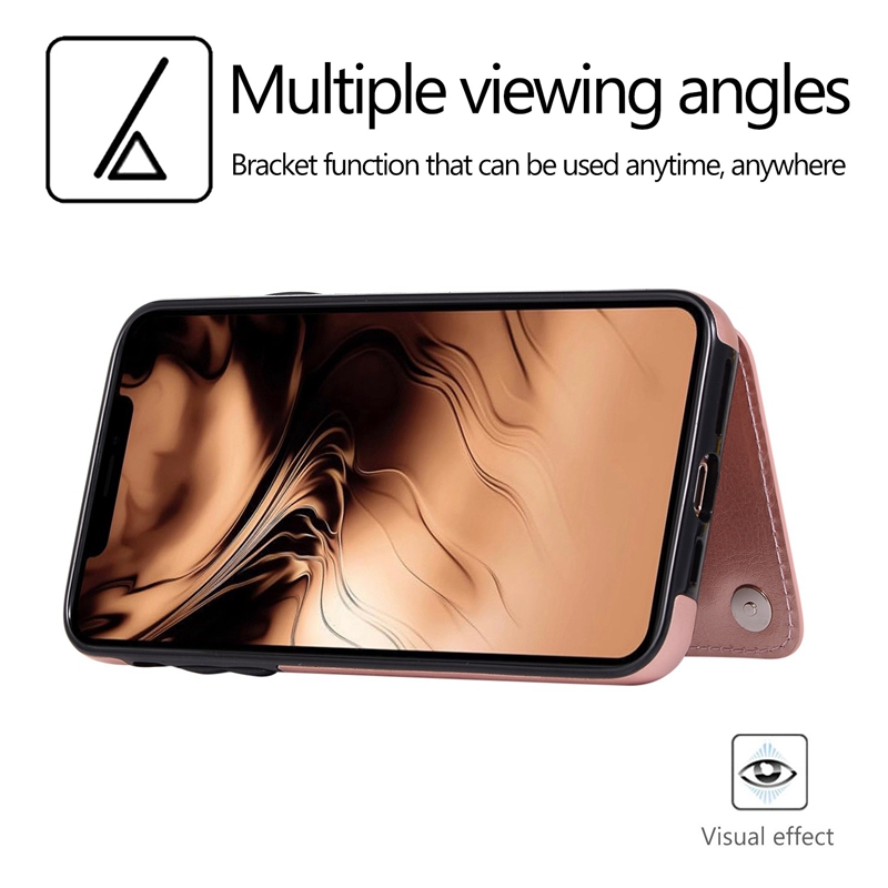 Indexbild 5 - für IPhone 11 Pro Max Magnetische PU + TPU Brieftasche Fall Kartensteckplat S7Z4