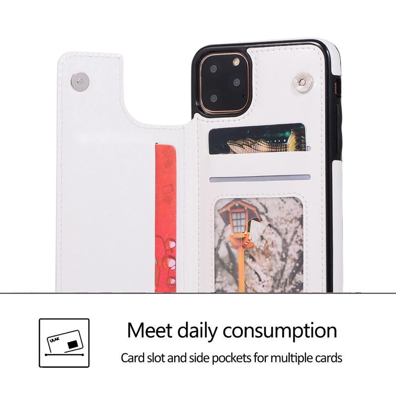 Indexbild 16 - für IPhone 11 Pro Max Magnetische PU+TPU Brieftasche Fall Kartensteckplatz U1P6