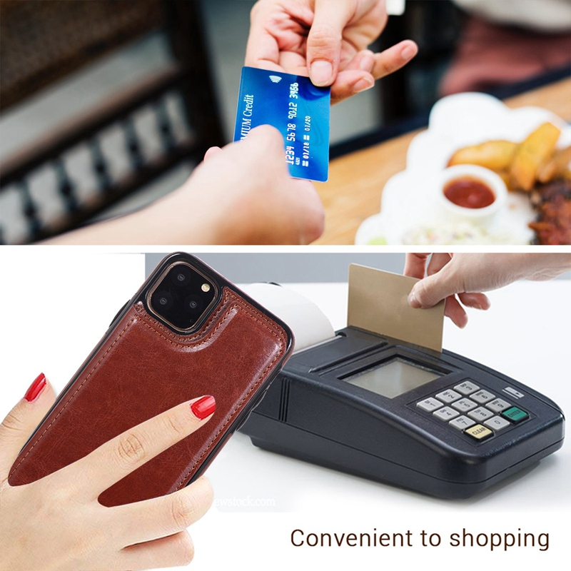 Indexbild 40 - für IPhone 11 Pro Max Magnetische PU + TPU Brieftasche Fall Kartensteckplat S7Z4