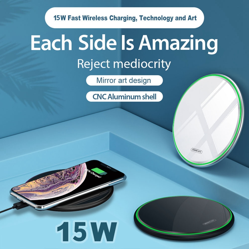 Fast-Qi-Glass-Wireless-Charger-for-Huawei-P30-Pro-Samsung-e-10-Plus-S10-N1O2 thumbnail 3
