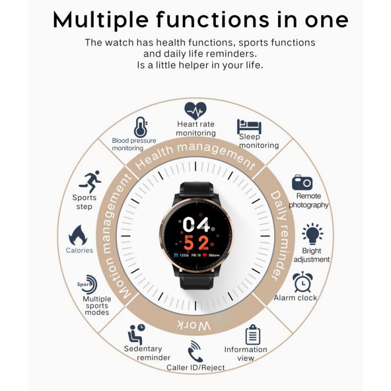 Smart-Armband-Fitness-Tracker-Herzfrequenz-Blutdruck-SchlafqualitaeT-Monitor-A6U3 Indexbild 12