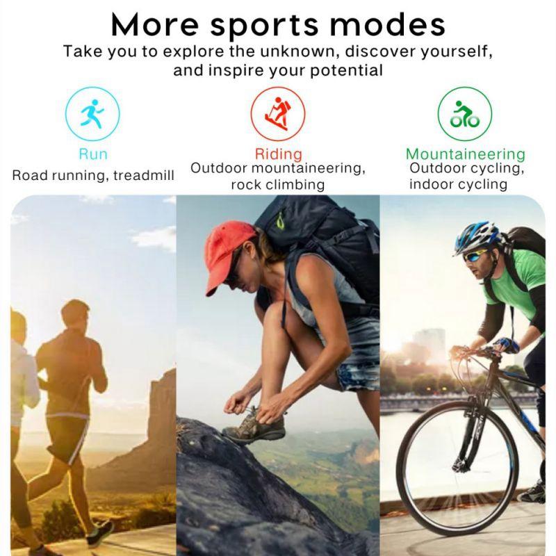 Smart-Armband-Fitness-Tracker-Herzfrequenz-Blutdruck-SchlafqualitaeT-Monitor-A6U3 Indexbild 15