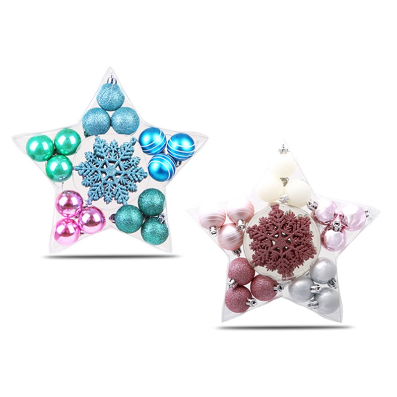 1X-24Pcs-Balls-Grind-Silver-Pink-Hanging-Different-Adorable-Christmas-Ball-G4X7 thumbnail 3