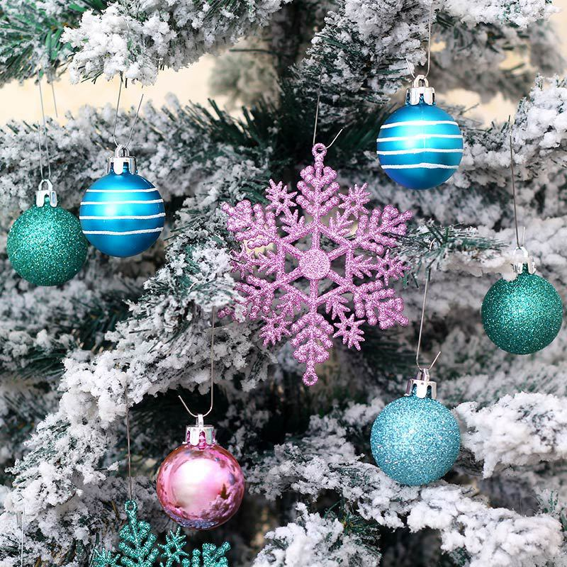 1X-24Pcs-Balls-Grind-Silver-Pink-Hanging-Different-Adorable-Christmas-Ball-G4X7 thumbnail 7