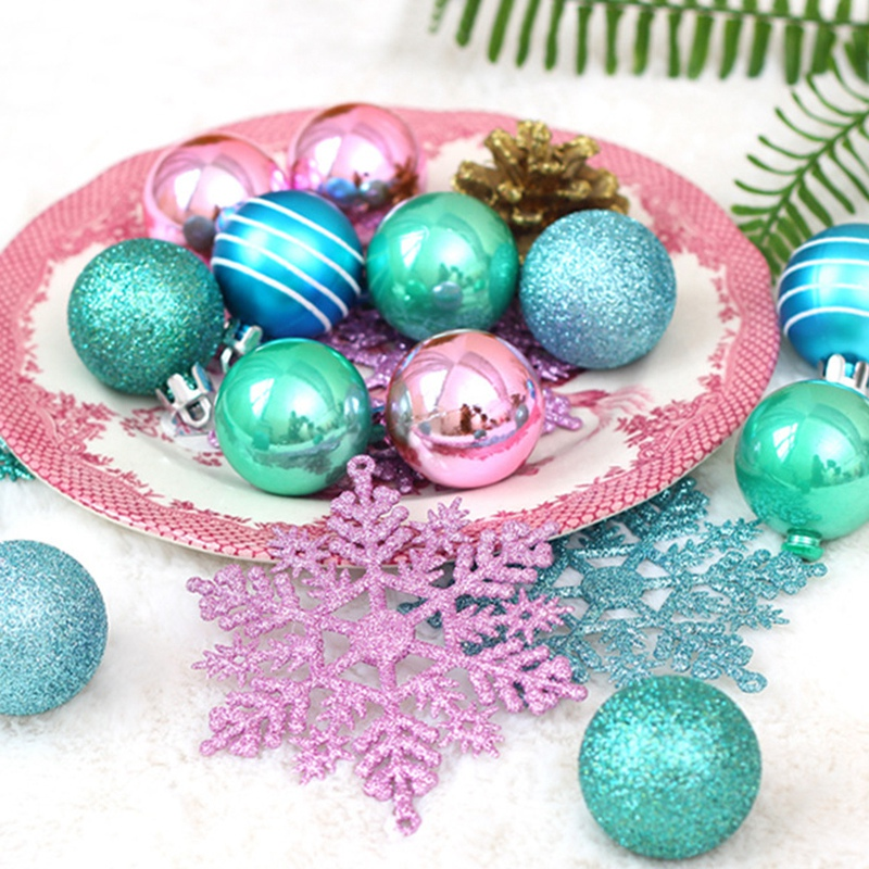 1X-24Pcs-Balls-Grind-Silver-Pink-Hanging-Different-Adorable-Christmas-Ball-G4X7 thumbnail 17