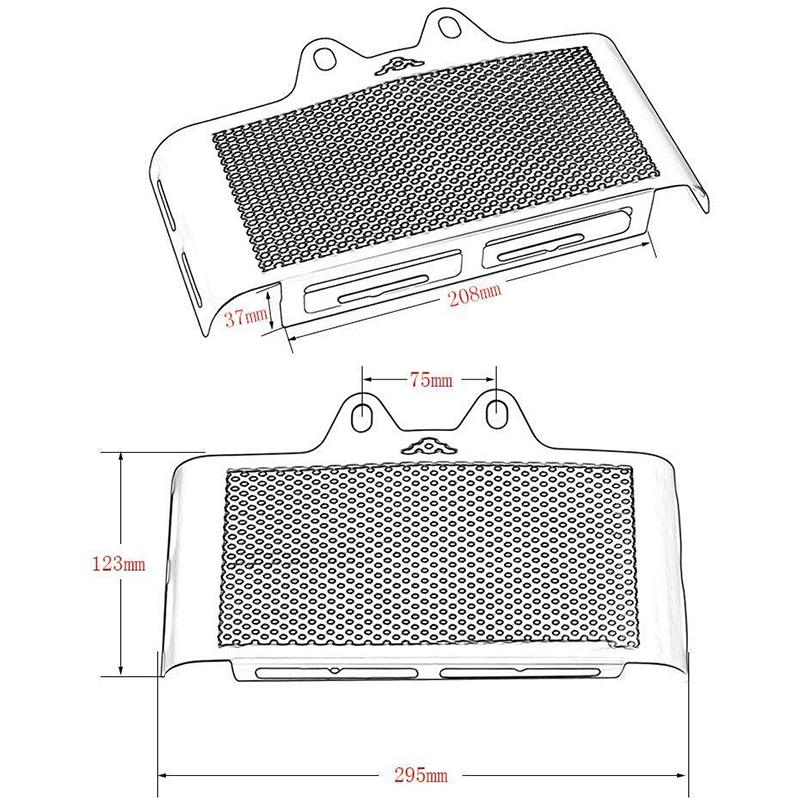 Moto-Noir-Grill-Couverture-de-Radiateur-Grille-de-Protection-pour-BMW-R-Nin-E3Z0 miniature 4