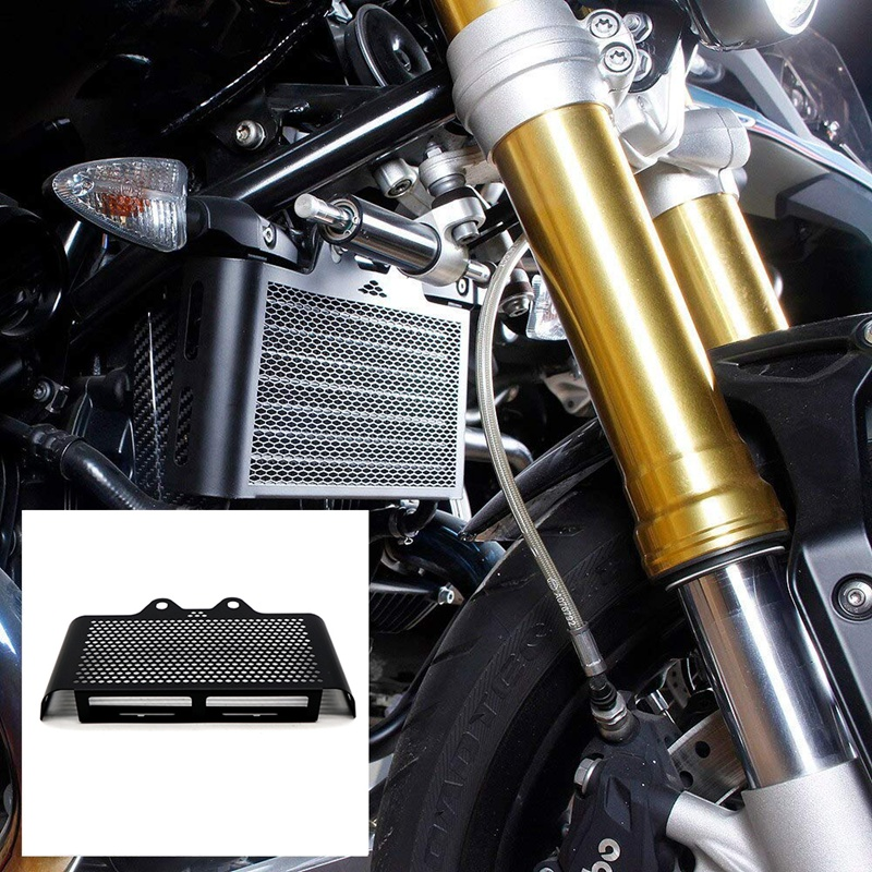Moto-Noir-Grill-Couverture-de-Radiateur-Grille-de-Protection-pour-BMW-R-Nin-E3Z0