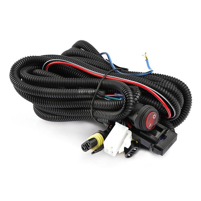 12V 30A LED Work Fog Light Bar Wiring Harness Relay Kit ON ...