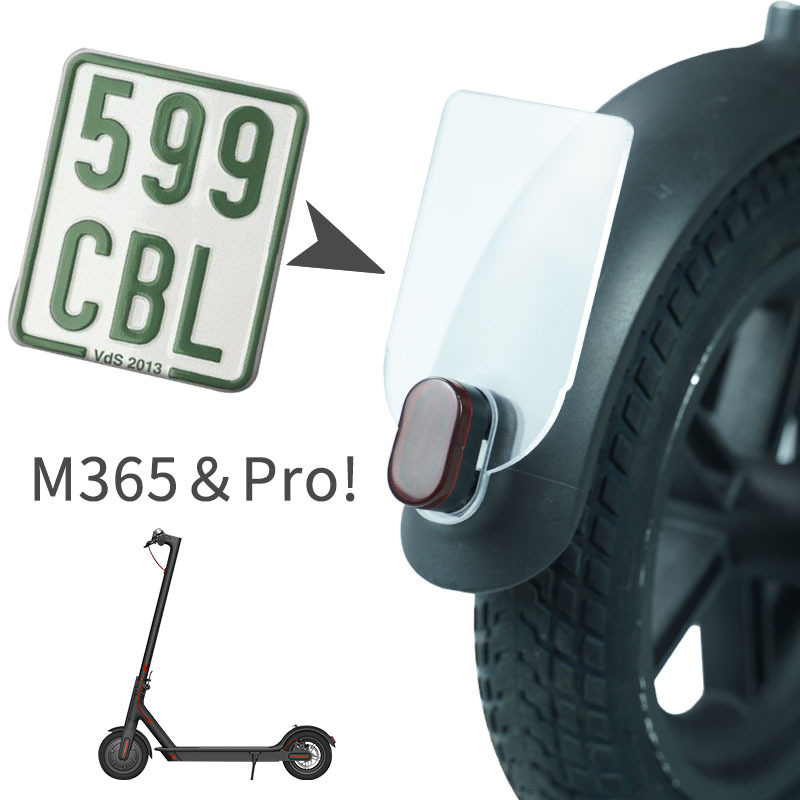 1X-License-Plate-for-Xiaomi-M365-Electric-Scooter-Number-Plate-Holder-Warni1X8 thumbnail 9