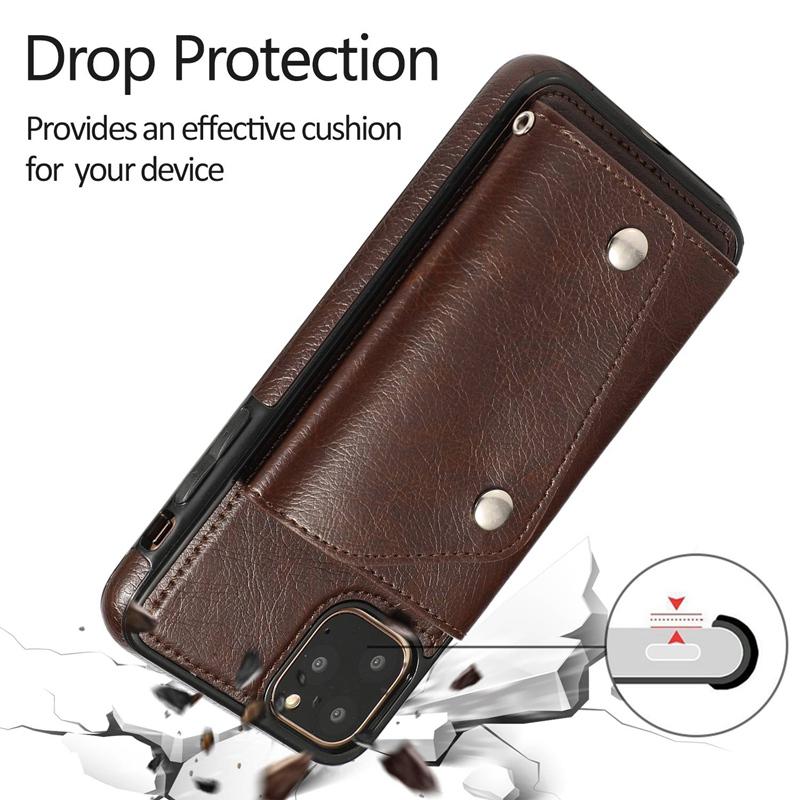 1X-pour-Iphone-11-Pro-Portefeuille-Pochette-en-Cuir-Fente-pour-Carte-de-Cre-P8H6 miniature 4
