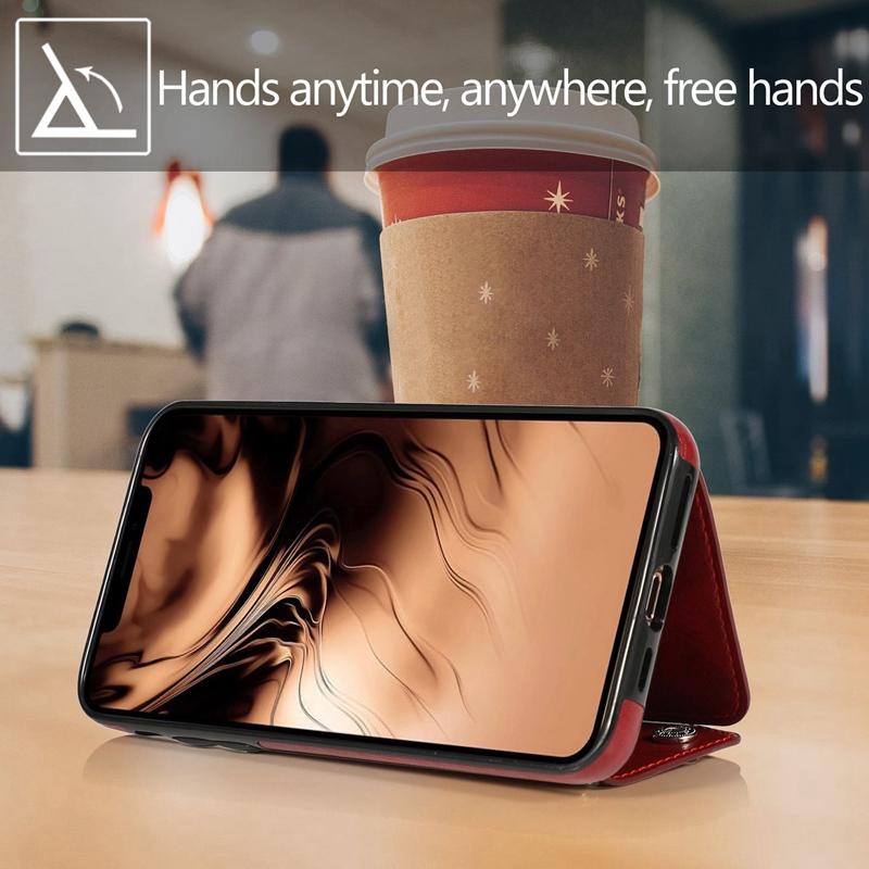 1X-pour-Iphone-11-Pro-Portefeuille-Pochette-en-Cuir-Fente-pour-Carte-de-Cre-P8H6 miniature 8