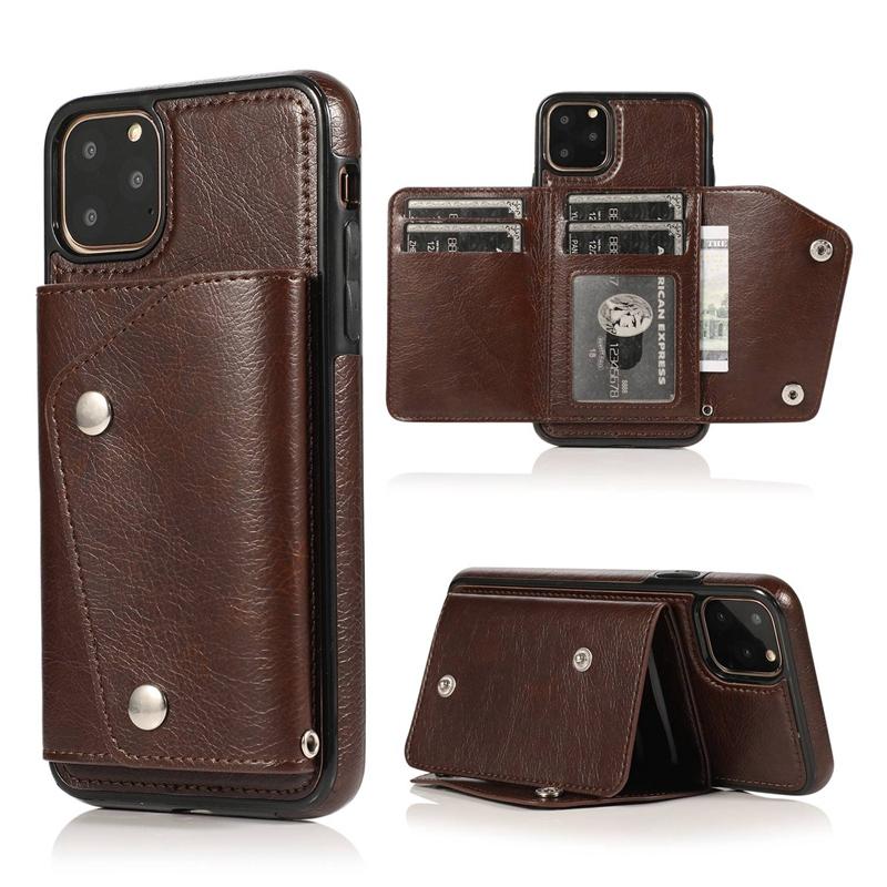 1X-pour-Iphone-11-Pro-Portefeuille-Pochette-en-Cuir-Fente-pour-Carte-de-Cre-P8H6 miniature 10