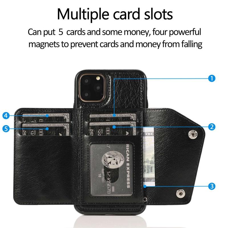 1X-pour-Iphone-11-Pro-Portefeuille-Pochette-en-Cuir-Fente-pour-Carte-de-Cre-P8H6 miniature 13