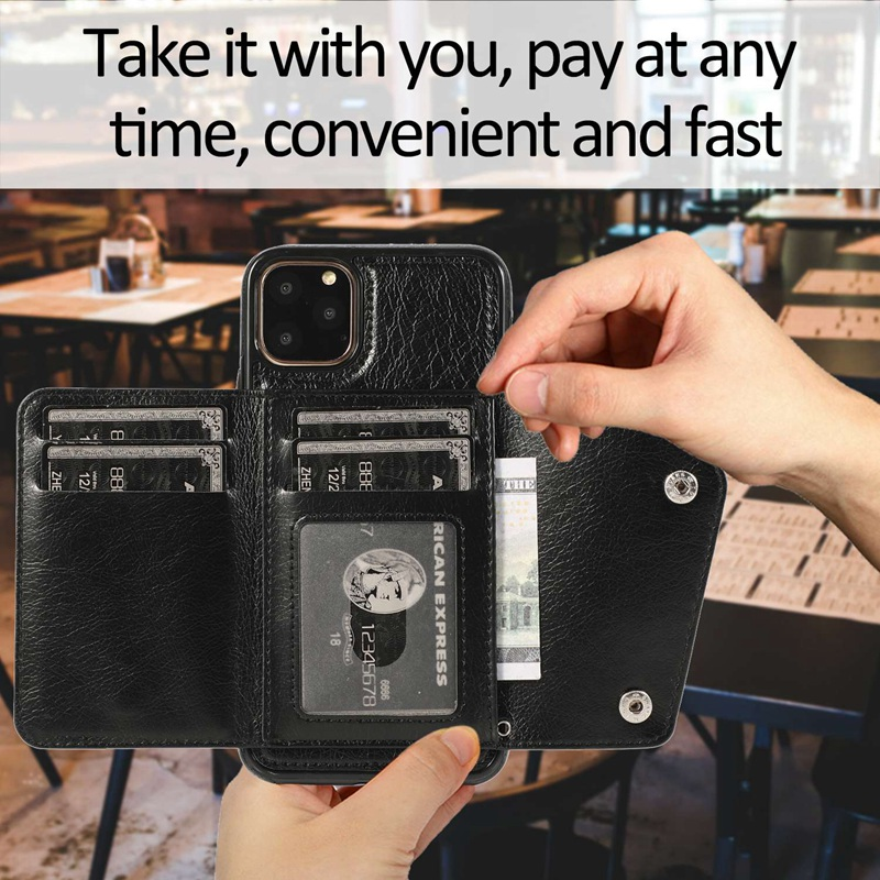 1X-pour-Iphone-11-Pro-Portefeuille-Pochette-en-Cuir-Fente-pour-Carte-de-Cre-P8H6 miniature 15