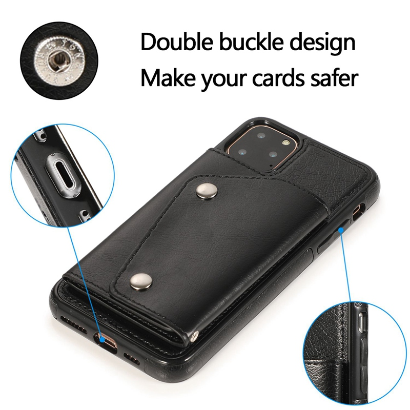 1X-pour-Iphone-11-Pro-Portefeuille-Pochette-en-Cuir-Fente-pour-Carte-de-Cre-P8H6 miniature 16