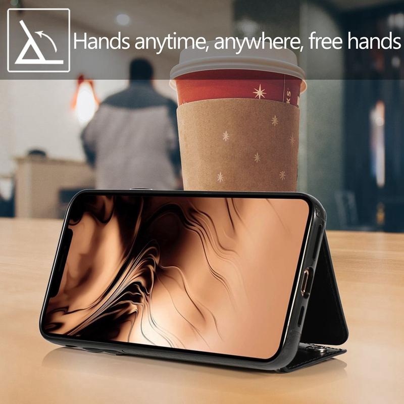 1X-pour-Iphone-11-Pro-Portefeuille-Pochette-en-Cuir-Fente-pour-Carte-de-Cre-P8H6 miniature 17