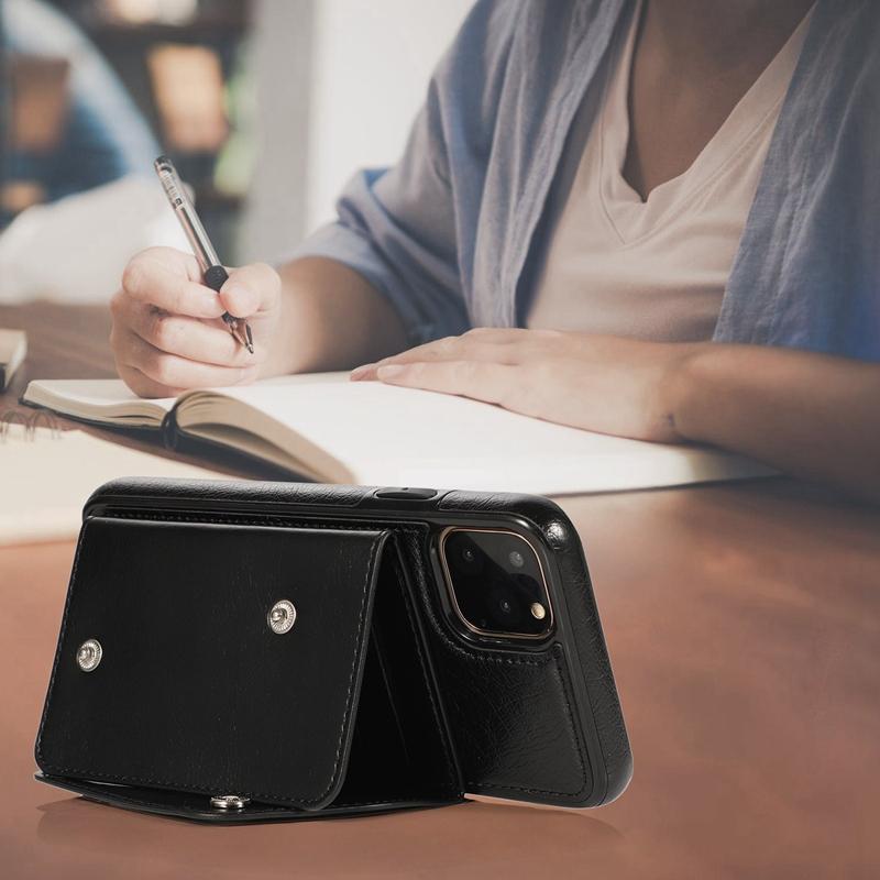 1X-pour-Iphone-11-Pro-Portefeuille-Pochette-en-Cuir-Fente-pour-Carte-de-Cre-P8H6 miniature 18