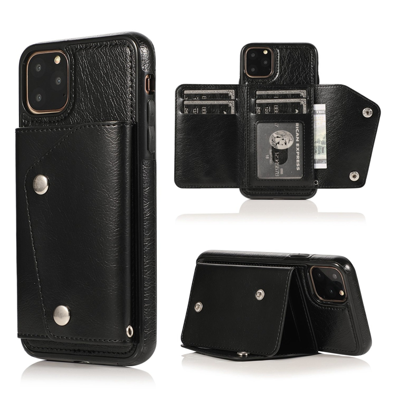 1X-pour-Iphone-11-Pro-Portefeuille-Pochette-en-Cuir-Fente-pour-Carte-de-Cre-P8H6 miniature 20