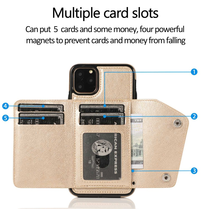 1X-pour-Iphone-11-Pro-Portefeuille-Pochette-en-Cuir-Fente-pour-Carte-de-Cre-P8H6 miniature 23