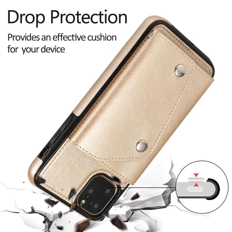 1X-pour-Iphone-11-Pro-Portefeuille-Pochette-en-Cuir-Fente-pour-Carte-de-Cre-P8H6 miniature 24