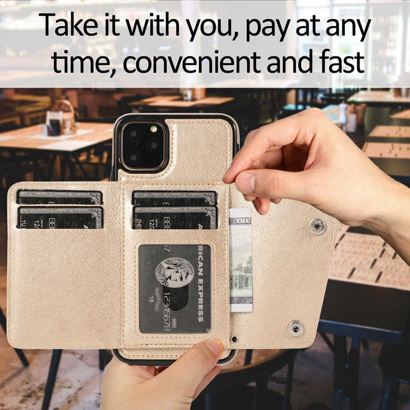 1X-pour-Iphone-11-Pro-Portefeuille-Pochette-en-Cuir-Fente-pour-Carte-de-Cre-P8H6 miniature 25