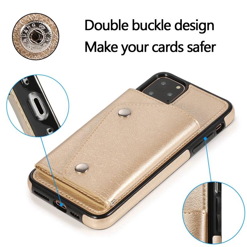 1X-pour-Iphone-11-Pro-Portefeuille-Pochette-en-Cuir-Fente-pour-Carte-de-Cre-P8H6 miniature 26