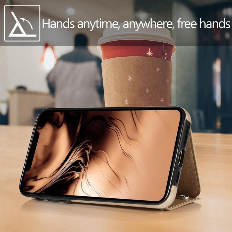 1X-pour-Iphone-11-Pro-Portefeuille-Pochette-en-Cuir-Fente-pour-Carte-de-Cre-P8H6 miniature 27