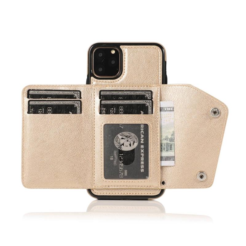 1X-pour-Iphone-11-Pro-Portefeuille-Pochette-en-Cuir-Fente-pour-Carte-de-Cre-P8H6 miniature 29