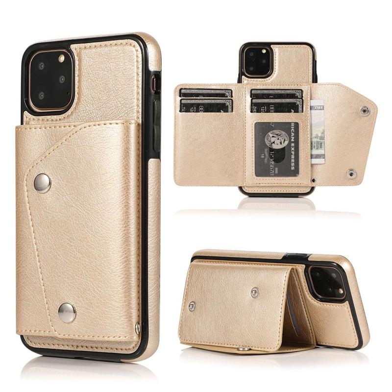 1X-pour-Iphone-11-Pro-Portefeuille-Pochette-en-Cuir-Fente-pour-Carte-de-Cre-P8H6 miniature 30