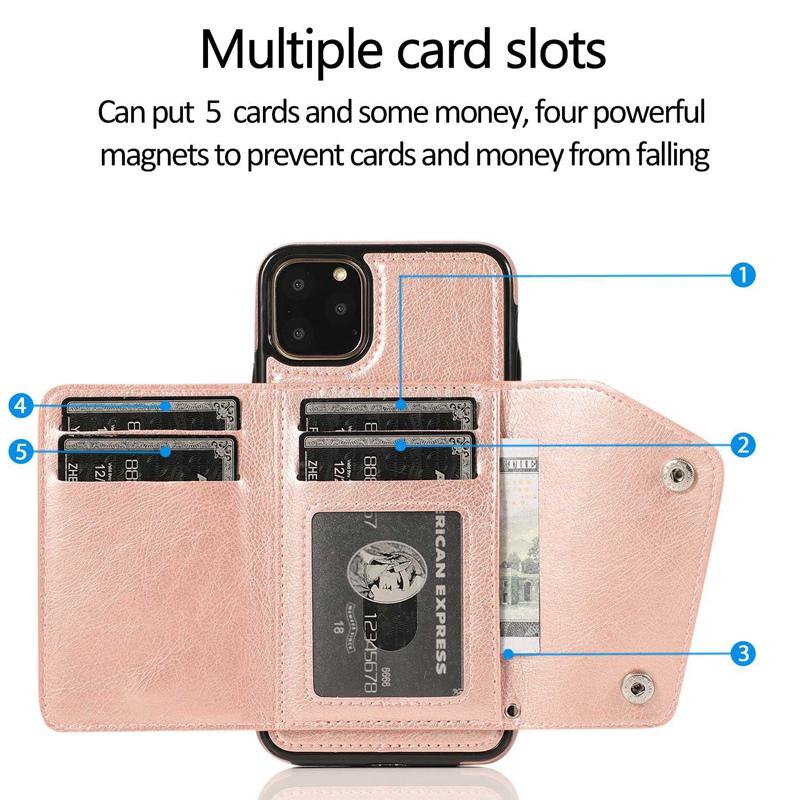 1X-pour-Iphone-11-Pro-Portefeuille-Pochette-en-Cuir-Fente-pour-Carte-de-Cre-P8H6 miniature 33