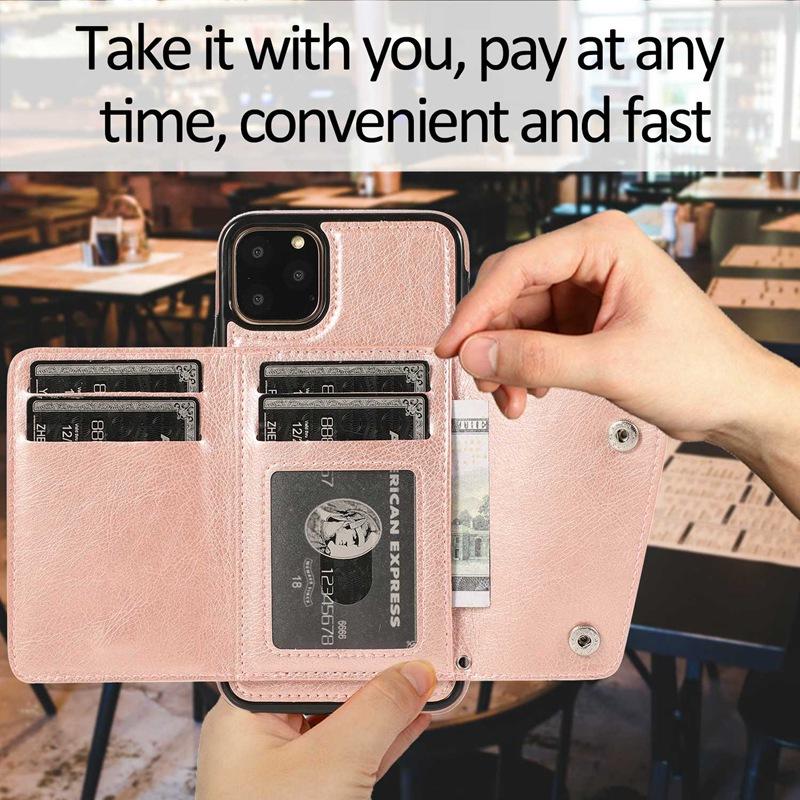 1X-pour-Iphone-11-Pro-Portefeuille-Pochette-en-Cuir-Fente-pour-Carte-de-Cre-P8H6 miniature 35