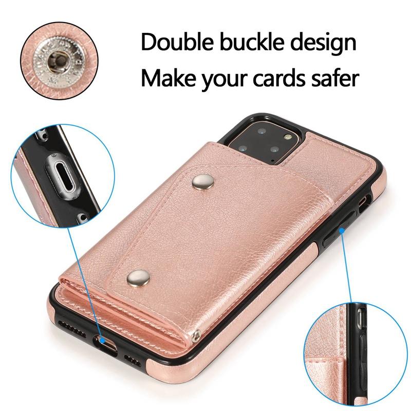 1X-pour-Iphone-11-Pro-Portefeuille-Pochette-en-Cuir-Fente-pour-Carte-de-Cre-P8H6 miniature 36