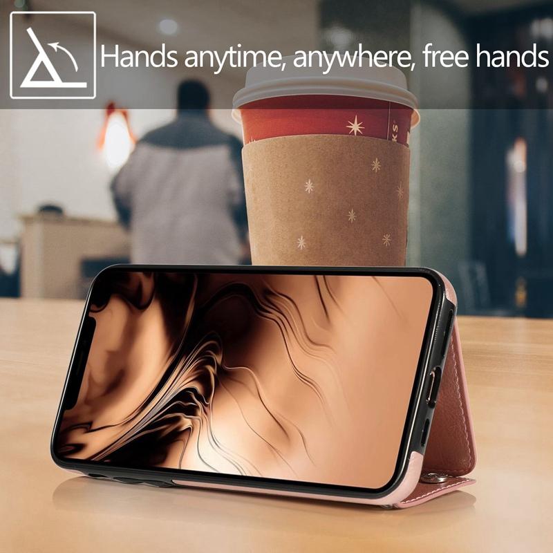 1X-pour-Iphone-11-Pro-Portefeuille-Pochette-en-Cuir-Fente-pour-Carte-de-Cre-P8H6 miniature 37